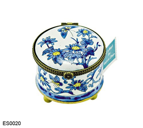 US Postal Stamp Holder Blue and White Floral