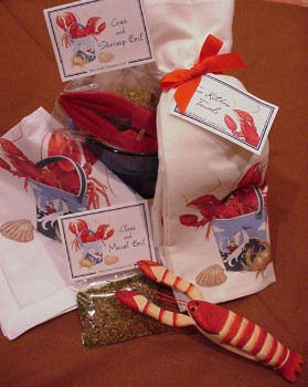 Mary Lake Thompson Lobster Gift Basket for 1