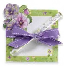 Lady Jayne - Pansy Porch Deluxe Pad with Pen