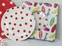 Red and White Polka Dots Melamine 8