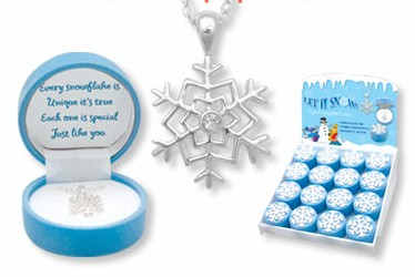Snowflake Pendant Necklace for Children