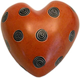 Soapstone -Large Heart Paperweight