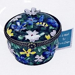 US Postal Stamp Holder Yellow Purple Flowers